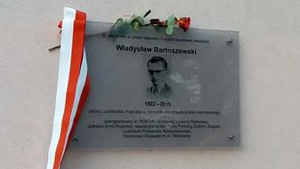 Kolejne upamiętnienie Władysława Bartoszewskiego