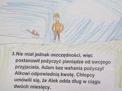 dwujęzyczna historyjka obrazkowa