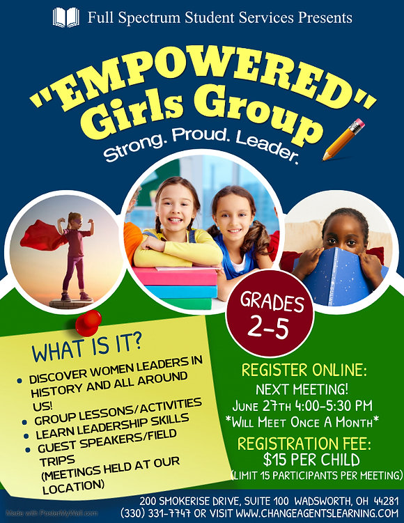 Empowered Girls Group - Made with Poster
