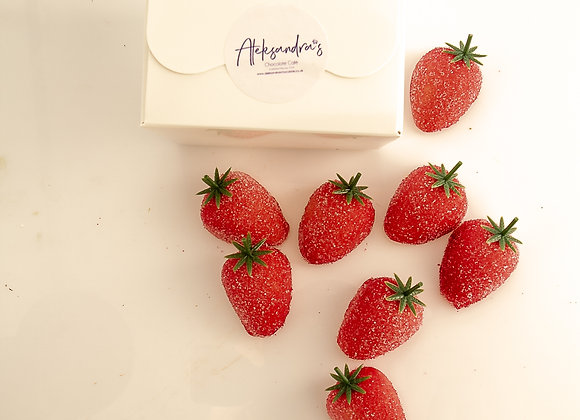 Marzipan Strawberries