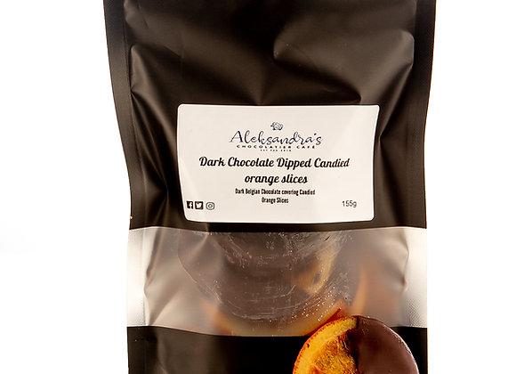 Dark Belgian Chocolate dipped Orange slices