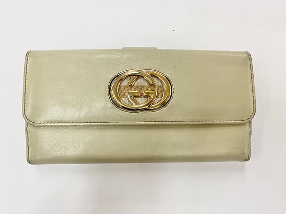 Gucci Cream Flap Wallet