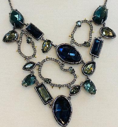 Alexis Bittar Silver Blue Necklace