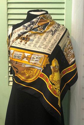 Hermès Salzburg Loic Dubigeon Musis Note Scarf