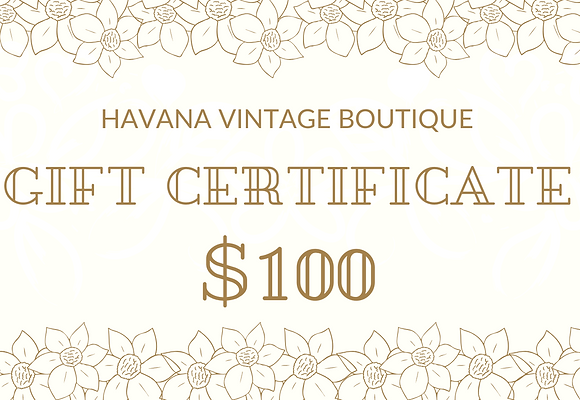 Havana Gift Certificate