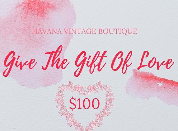 Havana Love Gift Certificate