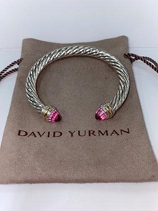 David Yurman Cabled Pink Tourmaline Bracelet
