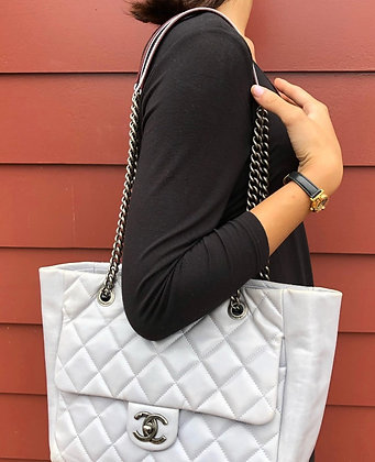 Chanel Shopping Tote Leather Bag