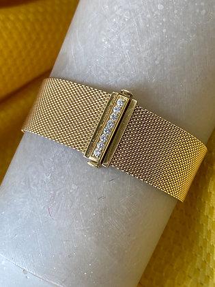 Tiffany & Co. Gold and Diamonds Mesh Bracelet
