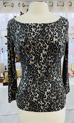 St John Animal Print Top