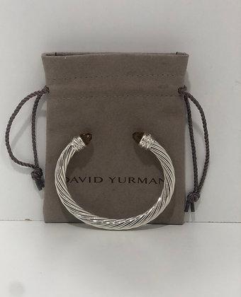 David Yurman Cabled Citrine and Diamond Bracelet