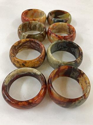 Set of 8 Horn Napkin Rings