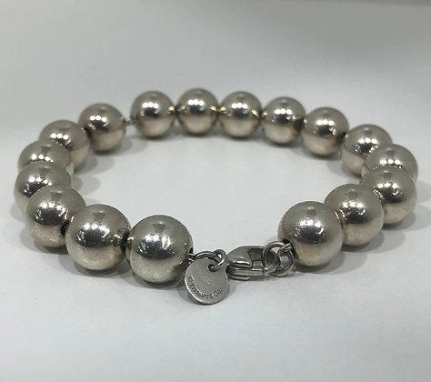 Tiffany & Co. Sterling Silver Bead Ball Bracelet