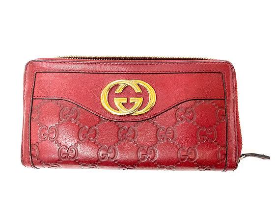 Gucci Guccissima Sukey Zip Wallet