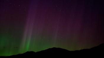 Northern Lights Over the Bridgers