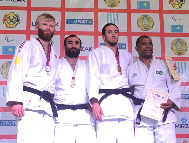 Silver for Chris Skelley at Atyrau IBSA Judo World Cup