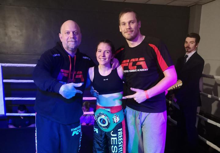 Jess Roper takes two 2019 Kickboxing titles