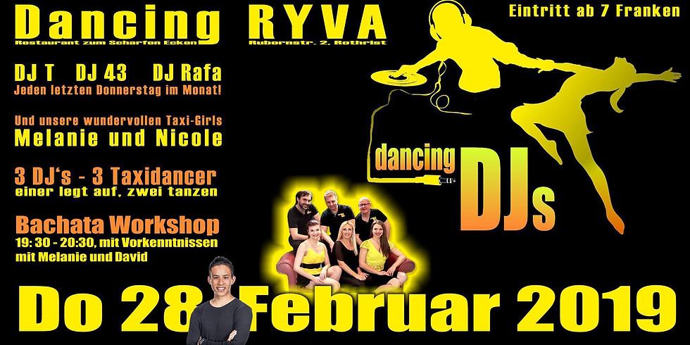Dancing DJ's & the glorius Taxi Girls