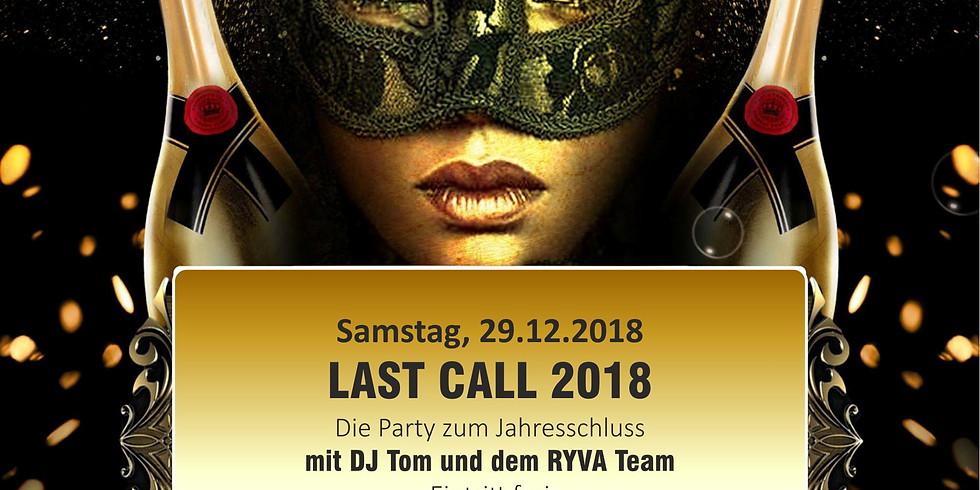 "Last Call 2018 - die Party mit DJ ""T"" Tom"