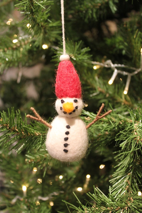Felt Snowman with Red Hat