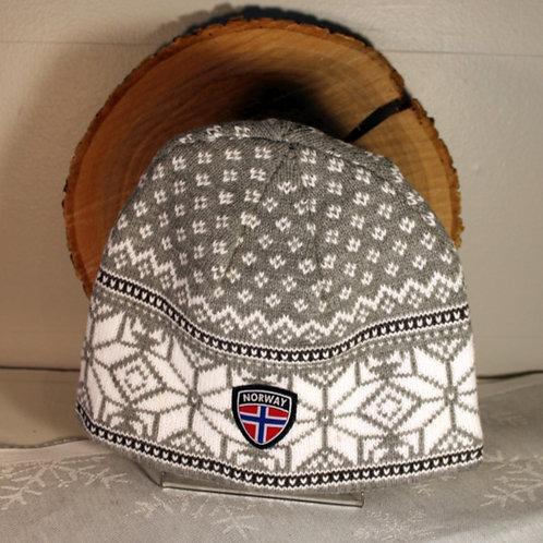 Rokk Norway Stocking Cap - Light Gray & White