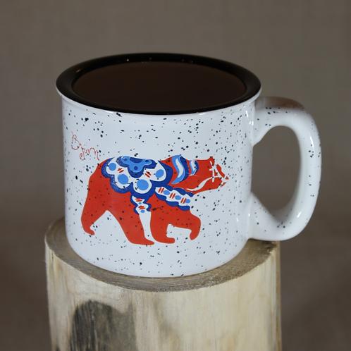 Dala Bear Camping Mug