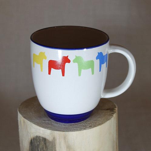 Dala Horse Mug - Blue