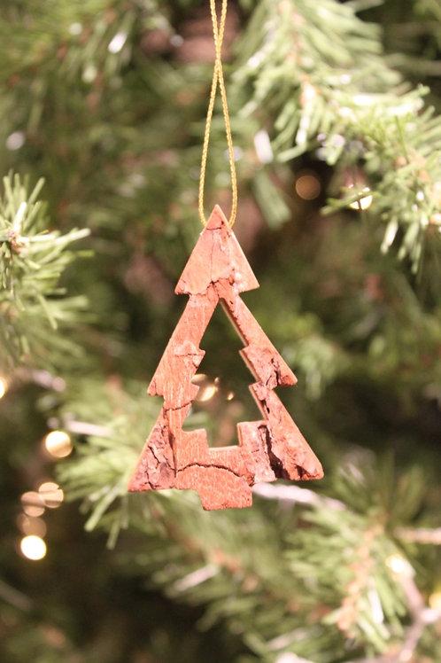 Bark Christmas Tree Ornament