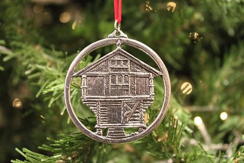 Norwegian Pewter House Ornament