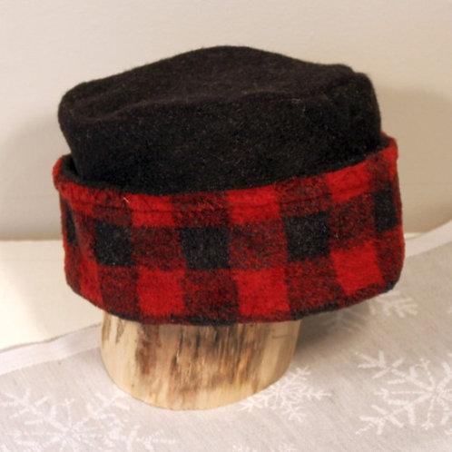 Buffalo Plaid Dress Hat - Red