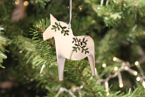 Dala Horse Metal Ornament