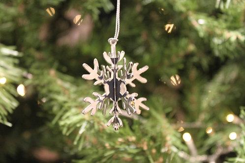 3D Metal Snowflake Ornament