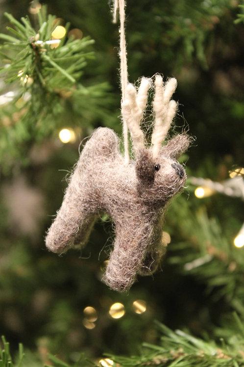 Felt Mini Reindeer - Grey
