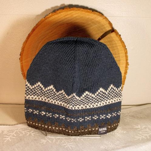 Marius Knit Hat - Dark Blue & Gray