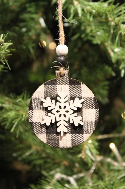 Snowflake Gingham Ornament