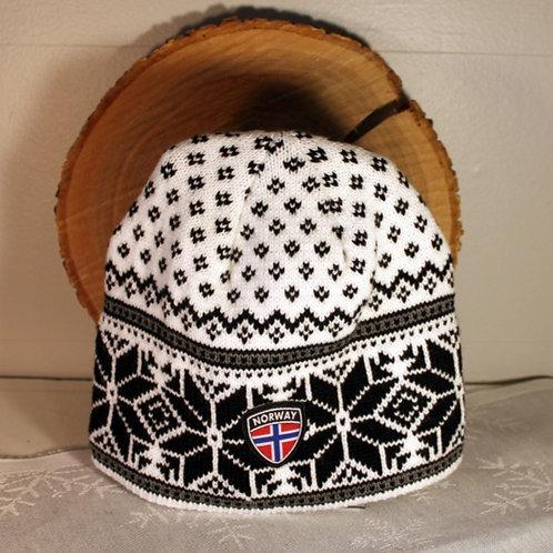 Rokk Norway Stocking Cap - White & Black