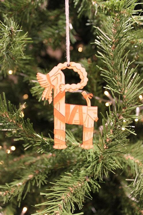 Wooden Goat Lasercut Ornament
