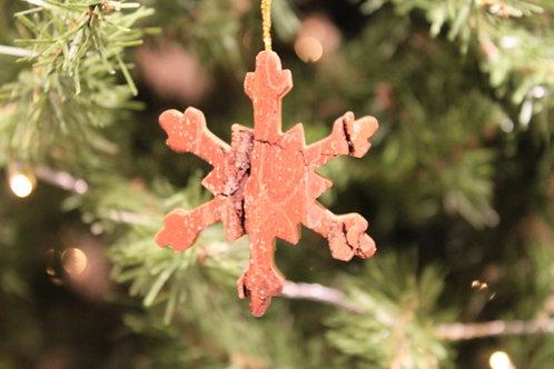 Bark Snowflake Ornament