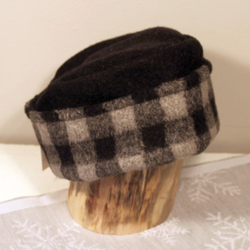 Buffalo Plaid Dress Hat - Gray