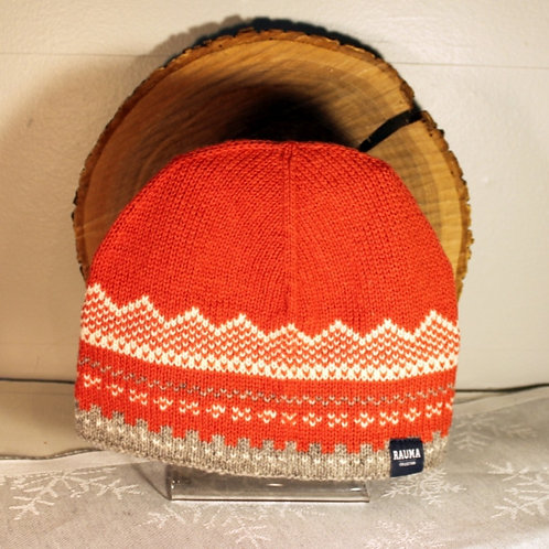 Marius Knit Hat - Coral & Gray