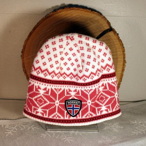 Rokk Norway Stocking Cap - Pink & White