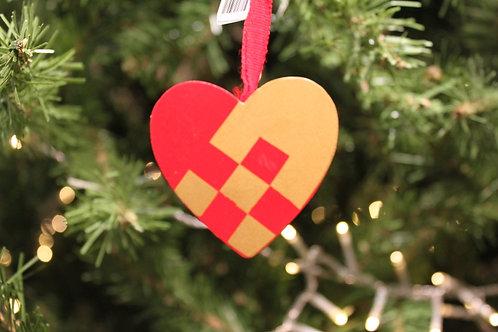 Wooden Woven Heart Ornament