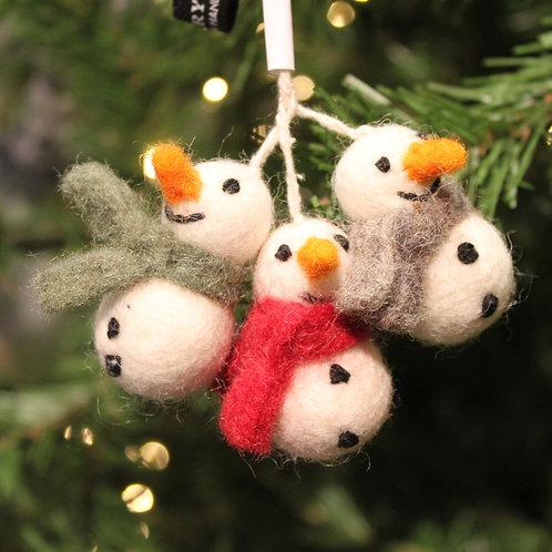 Felt Snowmen Mini Set of 3