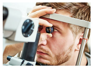 Man having eye examination