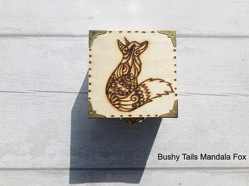 Brass Cornered Square Trinket Boxes