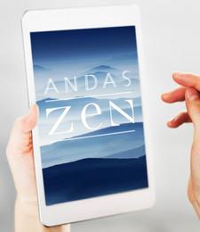 Andas Zen -logo ja julkaisun ulkoasu