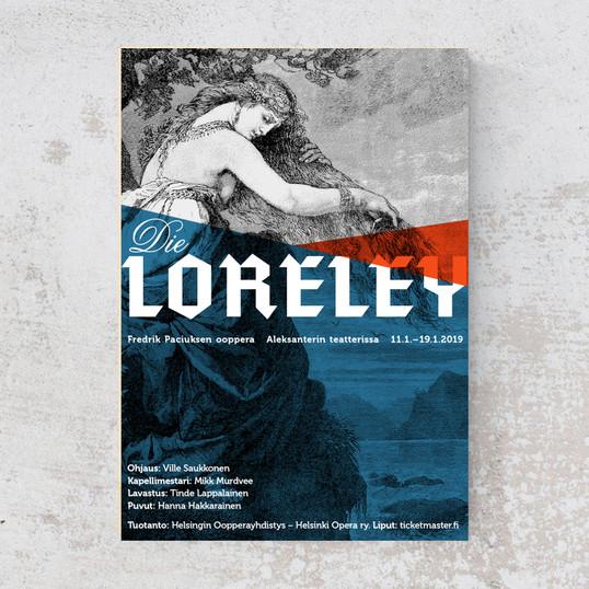 Loreley-oopperan juliste ja julkaisun ulkoasu