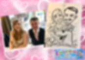 wedding caricaturist cheshire manchester