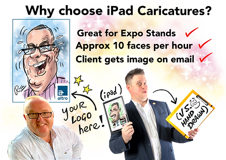 iPad Caricaturist Digital Ipad Caricatures Manchester