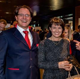 Armin Baumann und Doris Leuthard
